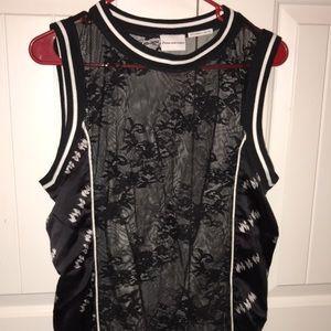 H&M lace floral tank top